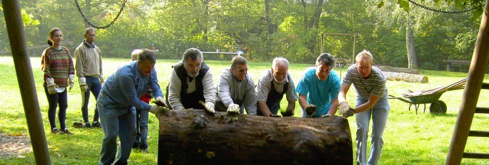 Arbeitseinsatz der NaturFreunde Vaihingen
