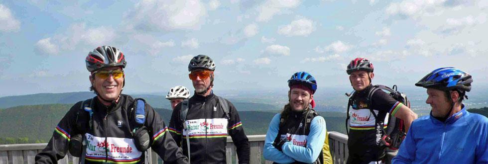 Das Radsport-Team der NaturFreunde Schorndorf in der Pfalz
